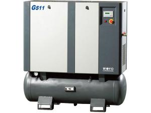 Rotary Screw Air Compressor  <small>(Tank Mounted Compressor)</small>